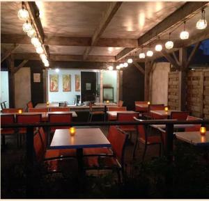Terrasse nuit Restaurant l'Envol Thouaré sur Loire